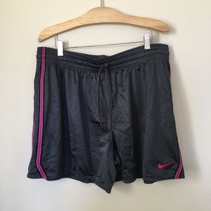 Dri Fit Black/Magenta Athletic Shorts - Size XL